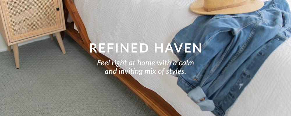 Refined Haven - Feel right at home with a calm and inviting mix of styles.