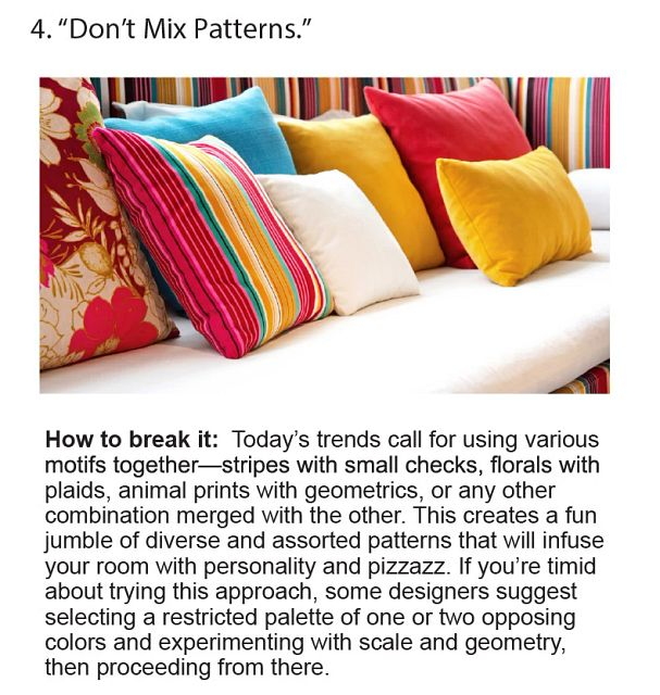 Don't Mix Patterns