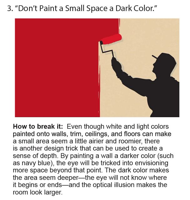 Don't Paint A Small Space A Dark Color