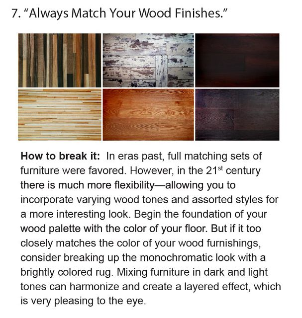 Always Match Your Wood Finishes