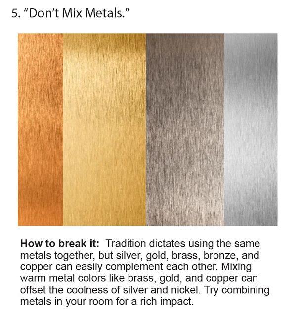 Don't Mix Metals